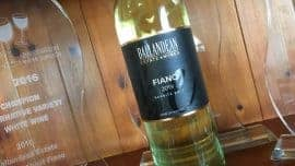 Fiano bottle and trophy